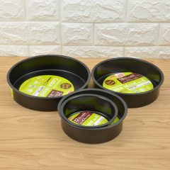 Multi Size Not-stick Stainless Steel High Quality Set in Round Shape Cake Pan