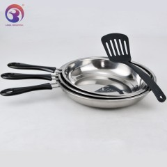 New Design 3pcs Set 410 Stainless Steel Fry Pan Cookware Sets With Pancake Turner