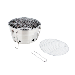 Outdoor Portable Barbecue Mini Table Top Grill Round Charcoal BBQ Grills