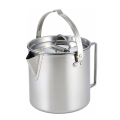 Portable Cookware Outdoor Hiking Survival Kettle 1.2L Water TeaPot Coffee Pot for Camping
