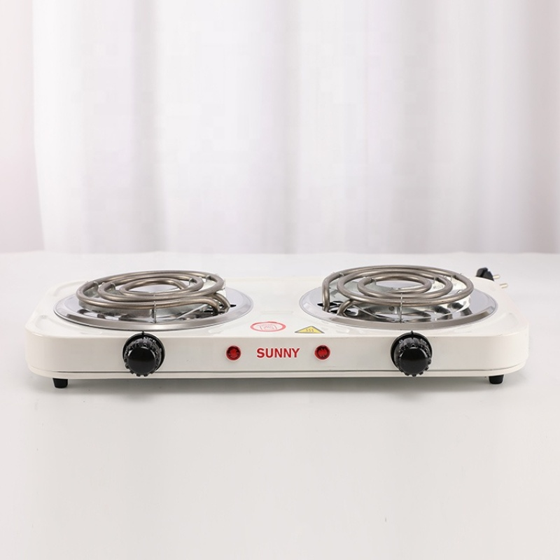 Portable Double Burner Electric Coil Hotplate Stove for Home Use