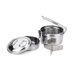 Portable Lunch box Stainless Steel Cookware Tableware Set For Camping Picnic Fishing