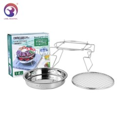 Portable Outdoor Stainless Steel Charcoal BBQ Grill for Camping