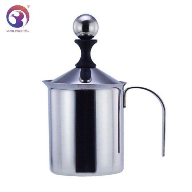 Professional Manufacturer Hand Pump Milk 304 Stainless Steel Antique Pitcher Milk Frother Coffee Set