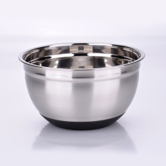 Stainless Steel Mixing Bowls Set with Silicone Bottom Stackable For Convenient Storage