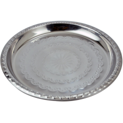 Stainless Steel Serving Food Tray Grape Shaped Fruit Tray Round Plate