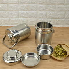 Straight Type/Drum Type Double Layers Heat Preservation Stainless Steel Lunch Boxes