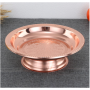 Western Style Stainless Steel Food Plate Round Snack Tray Dinner Plate for Restaurant