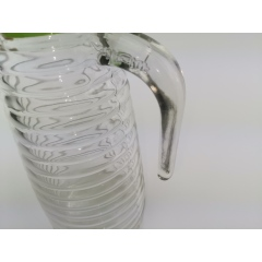 Wholesale 1000ml Clear Large Capacity Glass Thread Water Coffee Kettle Teapot Juice Pitcher