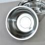 Wholesale Kitchen Metal Thicken Serving Salad Bowls Set Stainless Steel