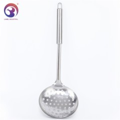 Wholesale Kitchen Utensil Metal 410ss Slotted Soup Skimmer with Holes