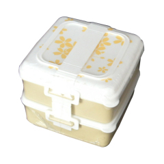 Set of 2 Layers  Plastic PP Lunch Box Microwave Food Container Bento