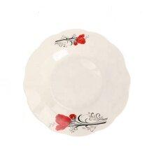 "Cheap 7"" Dinner Set Ceramic Porcelain Tableware Decal Deep White Soup Plate"