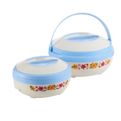 Set of 2 Pcs Food Warmer Insulated Lunch Box Thermos Stainless Steel