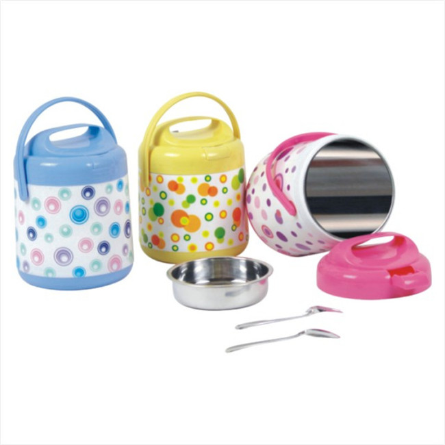 1.4L  Plastic PP Stainless Steel Lunch Jar Food Warmer Container