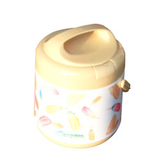 1.2 L Plastic PP Insulated Stainless Steel Lunch Box Jar Food Warmer Container
