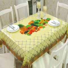 Rectangle Plastic Tablecloth PVC Plastic Oilproof Tablecloth Good Quality