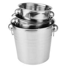 Large Stainless Steel Champagne Bucket Wine Cooler Ice Bucket with Low Price