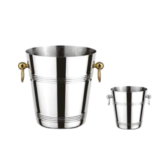 Promotion Stainless Steel 201 Champagne Standing Ice Bucket
