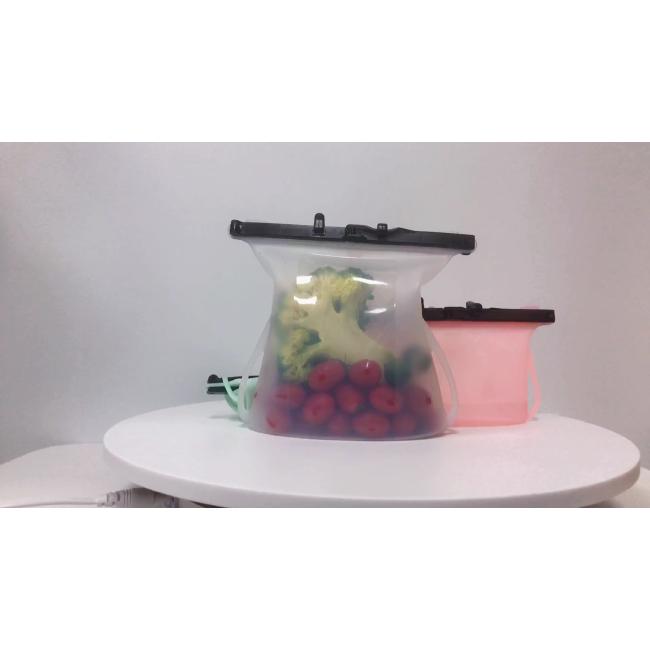 Well Sealing Reusable Storage Bag Silicone Food Storage Bag