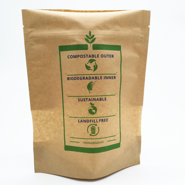 Eco Friendly Biodegradable Food Pouch Biodegradable Cookies Bag