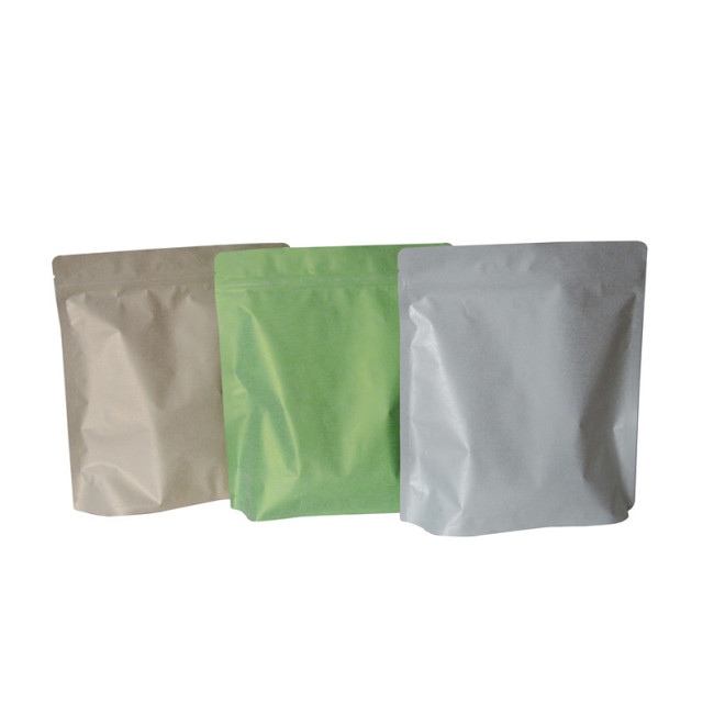 Stocks Snack Paper Bag Packing Food Reusable Stand Up Pouch Snack Bag