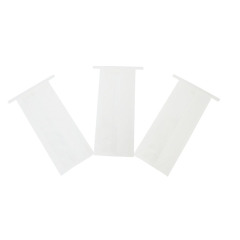 Clear Plastic Pouch Cookies Packaging Muffin Bags Square Flat Bottom Bread Bags with Tin Tie