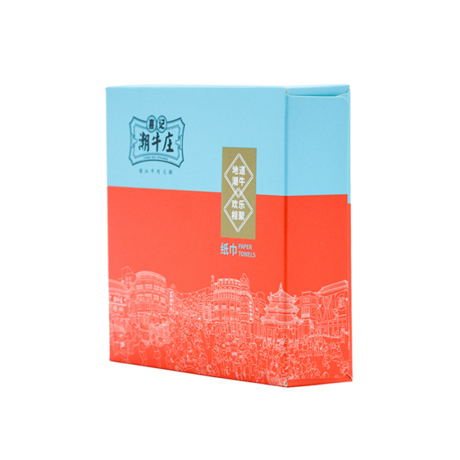 Recycled Paper Box for Tissue Paper Packaging Free Samples Napkin Box