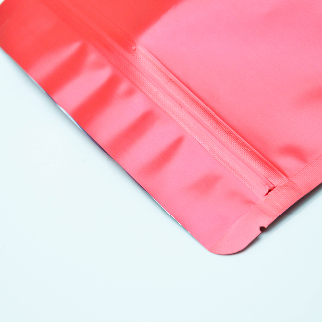 Ready to Ship Plastic Doypack Red Resealable Zip Bag Stand Up Pouch for Food Packaging