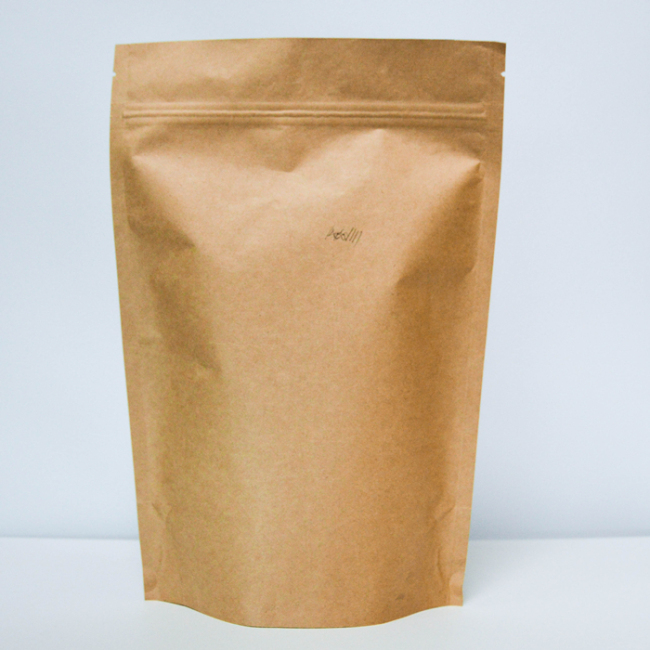 Small Quantity with OEM Printing Brown Kraft Paper Bags with Zipper Paper Bag Manufacturers