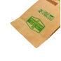 100% Biodegradable Zip Lock Pouch Kraft Pouch Zip Lock