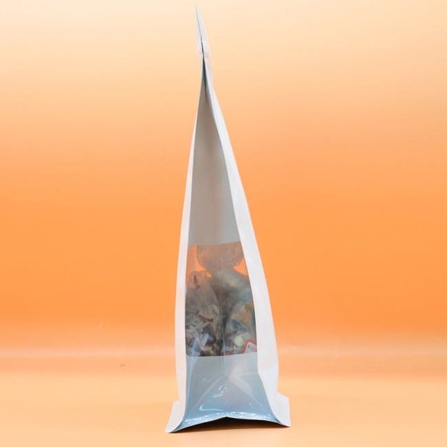 China Plastic Bags Zip Lock with Clear Window Pet Foods Tea Bag  Dried Foods Aluminum Foil Packing