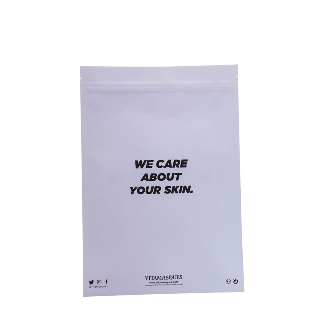 Customized Logo Face Shield Bag Zip Lock Bags Plastic Bag