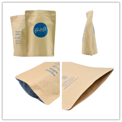 Cheap Coffee Tea Bag Side Gusset Bag Biodegradable Packaging Bag 250g,500g  with High Quality