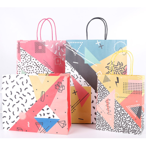 Carry Paper Bag With Abstract Design