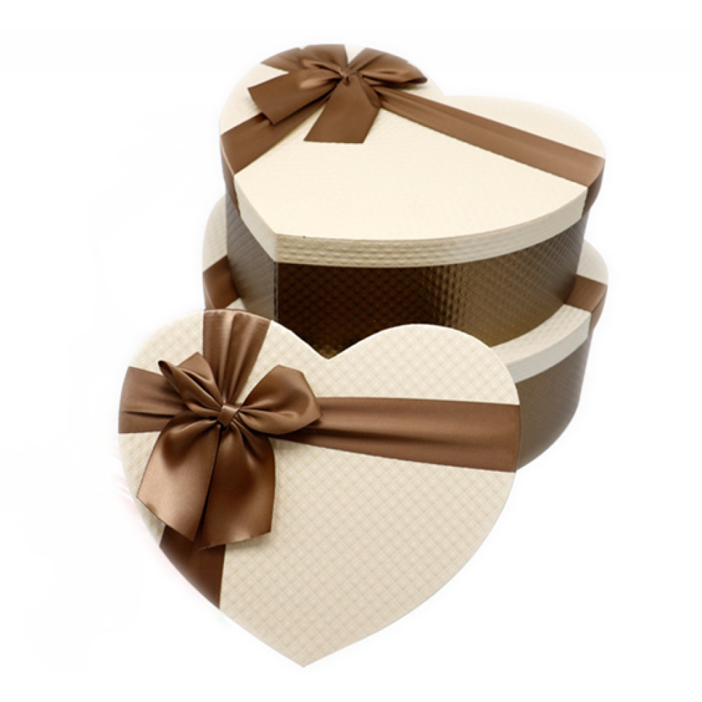 Quality Cardboard Heart-Shaped Gift Box Set 3
