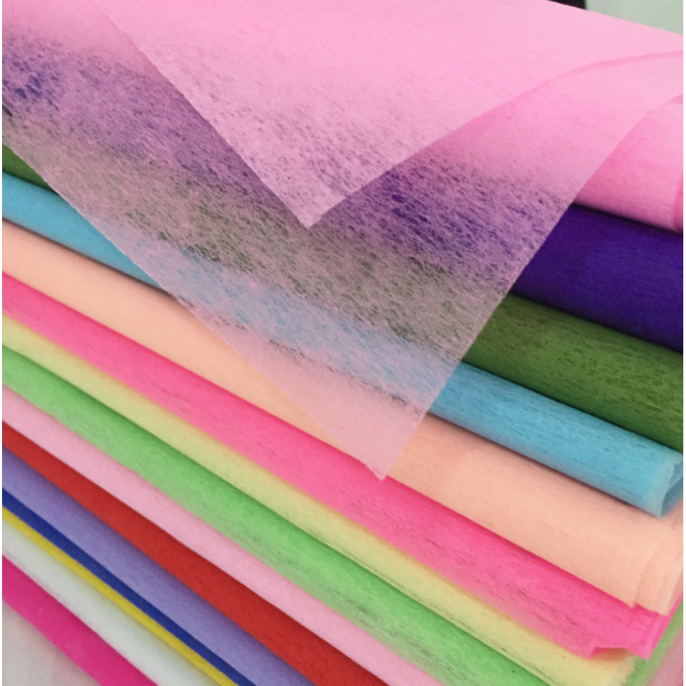 Cotton Paper Bouquet Wrapping Sheets 16 Colors Pack 33