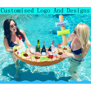 Inflatable Beer Pong Ball Table Floating Raft Lounge