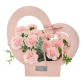 Flower Cardboard Gift Basket With A Heart Handle Pack 10