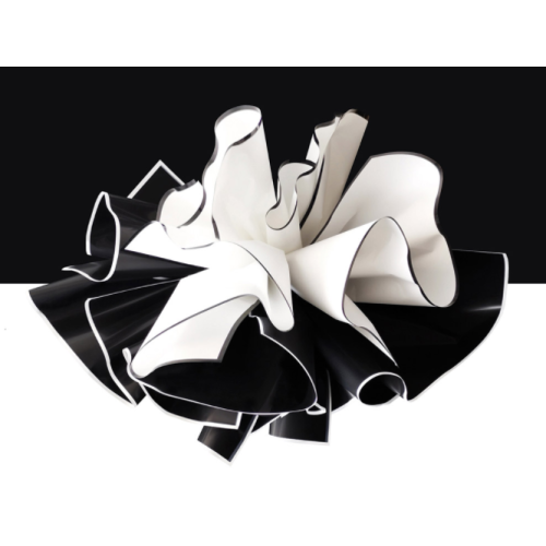 White Black Waterproof Cello Flower Wrapping Paper Pack 20
