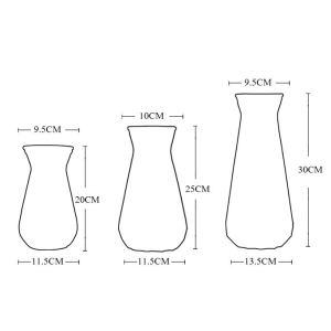 Floral Glass Vases Wholesale Two Colors In One