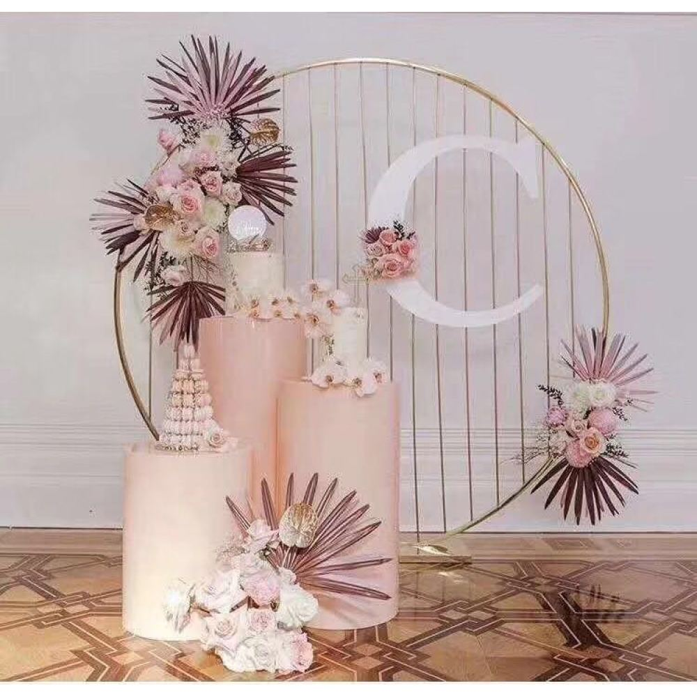 Wedding Decoration Round Frame Metal Backdrop Stand Sydney For Hire