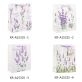 White Cardboard Gift Bag Lavender Designs Pack 100