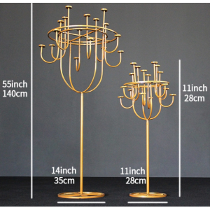 Candle Holder White & Gold For Hire