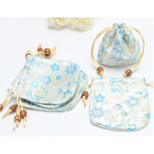 Floral Embroidery Drawstring Bags