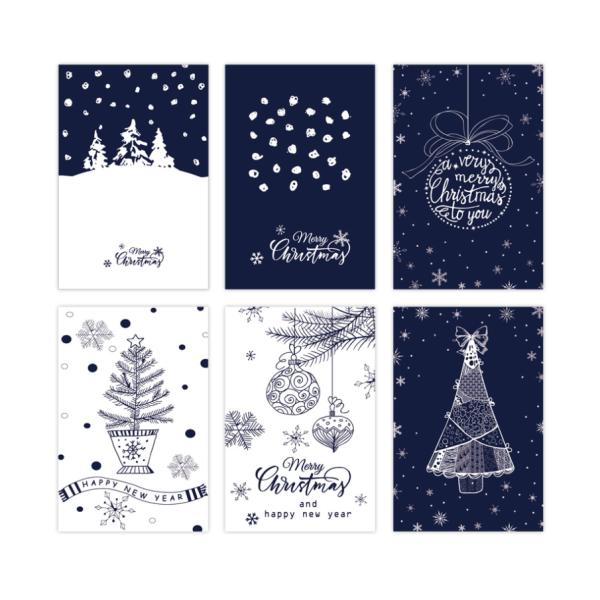 Christmas Gift Cards 10cm*15cm Blue & White