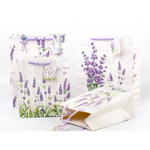 White Cardboard Gift Bag Lavender Designs Pack 100