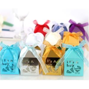 Laser Cut Candy Gift Box For A Newborn Boy
