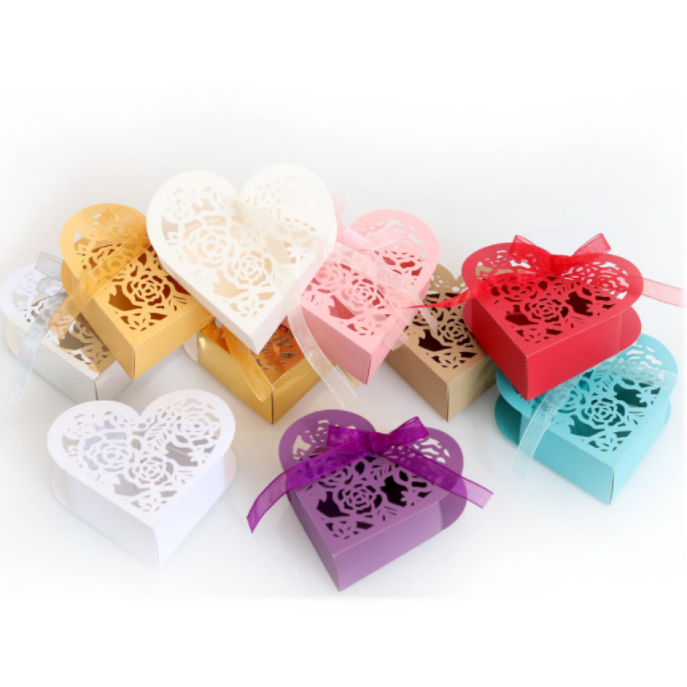 Rose Laser Cut Candy Ferrero Chocolate & Candy Gift Box
