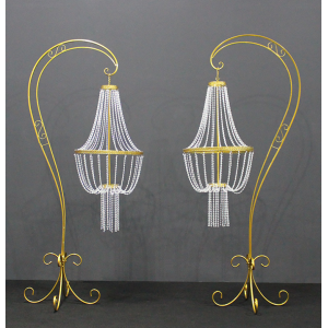 Antique Style Wedding Standing Chandelier For Hire